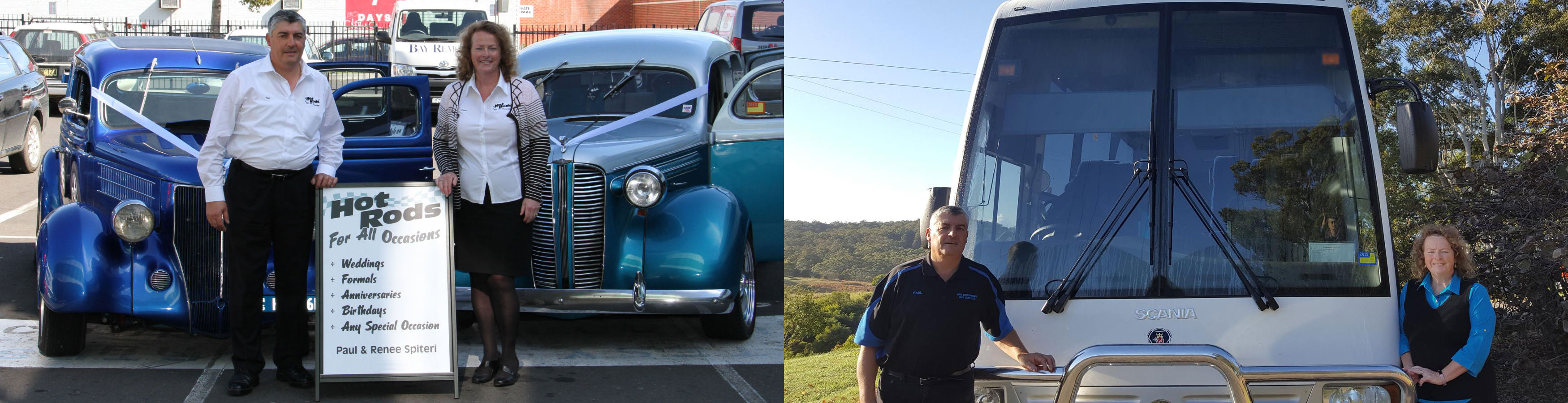 Renee and Paul Spiteri of Hot Rods For All Occasions and Bulahdelah Buses